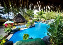 The Rarotongan Beach Resort & Spa, Cook Islands - Pool view from Treetops