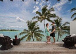 Crystal Blue Lagoon Luxury Villas, Cook Islands - Beachfront Villa Master Bedroom Balcony
