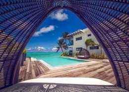 Crystal Blue Lagoon Luxury Villas, Cook Islands - Day Bed View