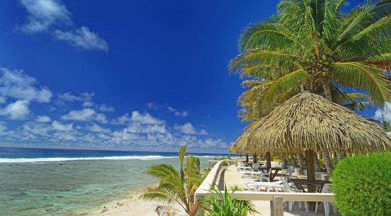 Club Raro, Cook Islands - Deck view over lagoon