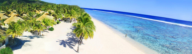 Crown Beach Resort, Cook Islands - Aerial View