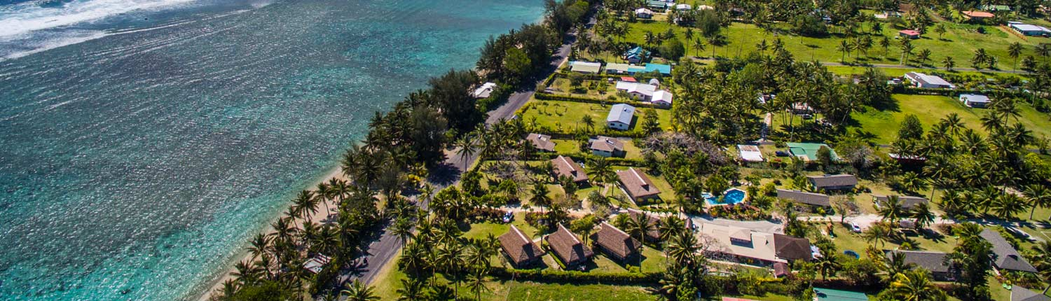 Lagoon Breeze Villas, Cook Islands - Aerial View