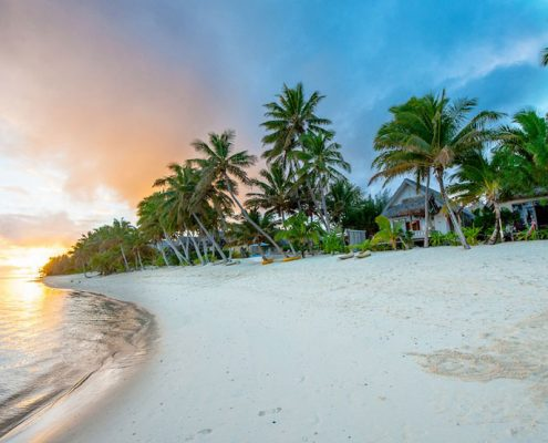 Little Polynesian Resort, Cook Islands - Beach Sunset