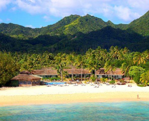 Manuia Beach Resort, Cook Islands - Aerial View