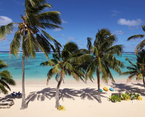 Moana Sands Beachfront Hotel & Villas, Cook Islands - Water views from Hotel