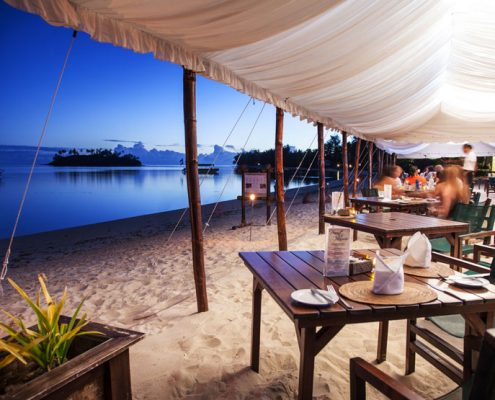 Pacific Resort Rarotonga, Cook Islands - Beachfront Dining