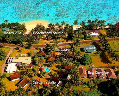 Palm Grove, Cook Islands - Aerial View