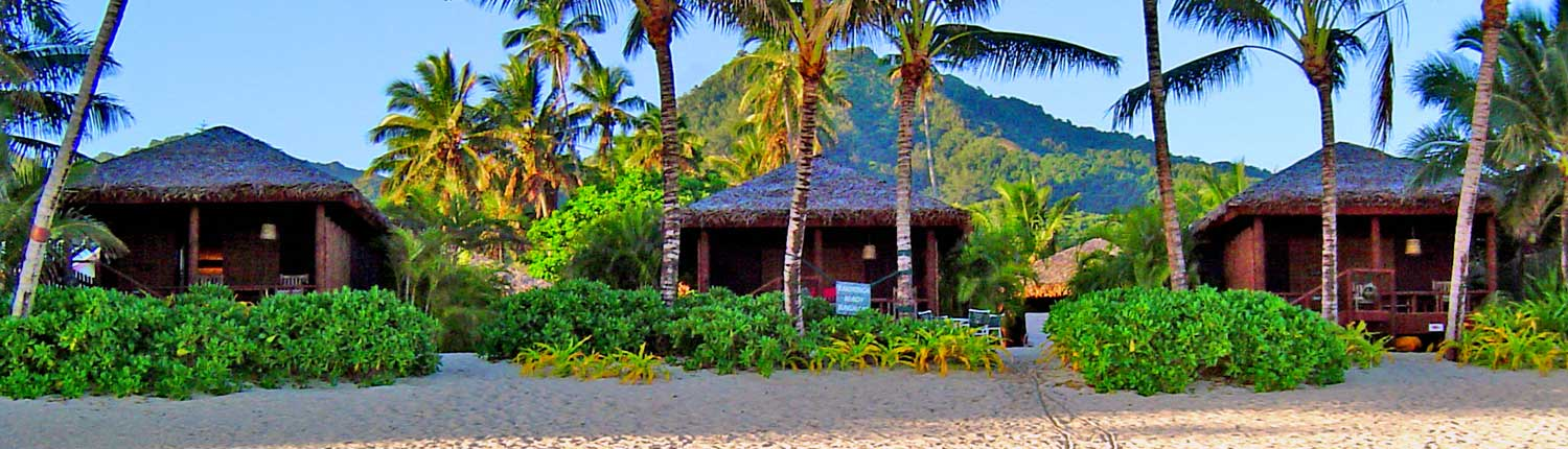 Rarotonga Beach Bungalows, Cook Islands - View From Beach
