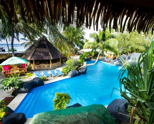 Rarotongan Beach Resort & Spa, Cook Islands - Pool From Treetops
