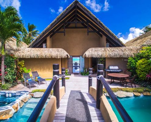 Rumours Luxury Villas & Spa, Cook Islands - Private entrance to Platinum Villa