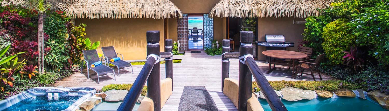 Rumours Luxury Villas & Spa, Cook Islands - Private Entrance of Beachfront Villa