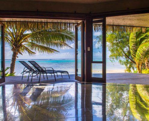 Rumours Luxury Villas & Spa, Cook Islands - Water views from Beachfront Villa