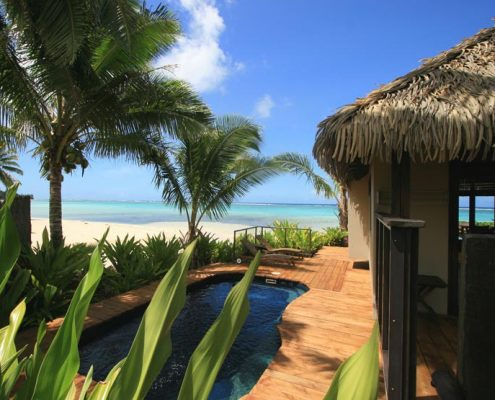 Sea Change Villas, Cook Islands - Beachfront Pool