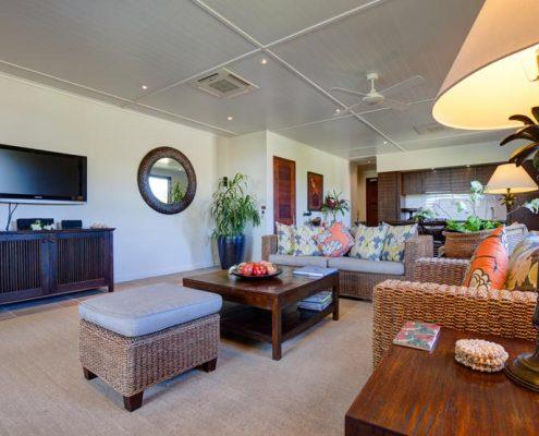 Te Vakaroa Villas, Cook Islands - 2 Bedroom Villa Lounge
