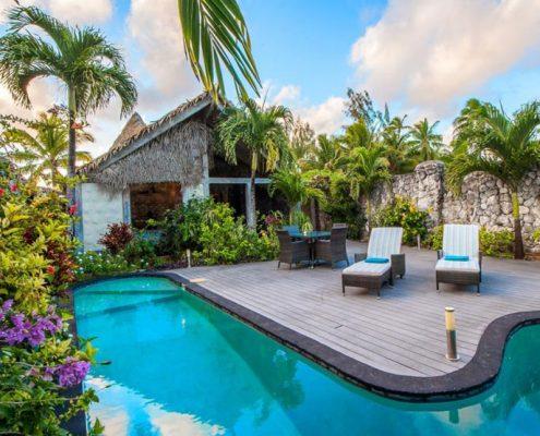 Aitutaki Escape, Cook Islands - Two Bedroom Villa Pool Area