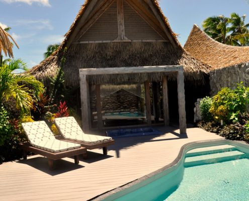 Aitutaki Escape, Cook Islands - One Bedroom Villa Courtyard