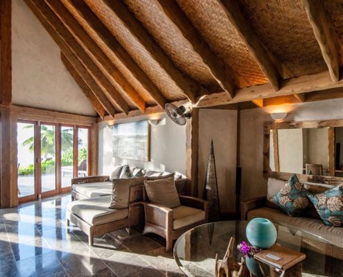 Aitutaki Escape, Cook Islands - Ultimate 2 Bedroom Villa Lounge