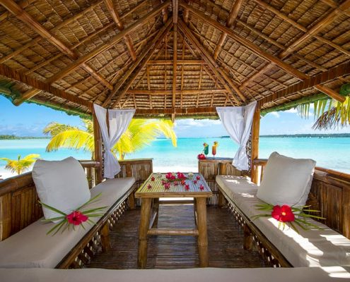 Aitutaki Lagoon Resort, Cook Islands - Beach Gazebo