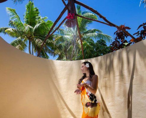 Aitutaki Lagoon Resort, Cook Islands - Outdoor shower