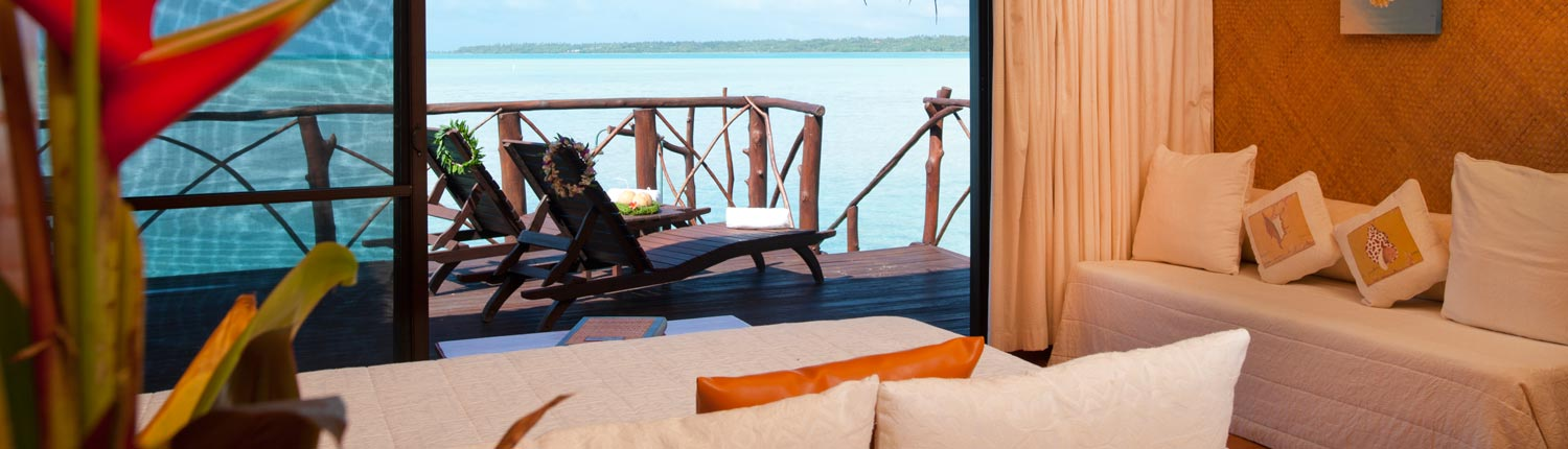 Aitutaki Lagoon Resort, Cook Islands - Overwater Bungalow Interior
