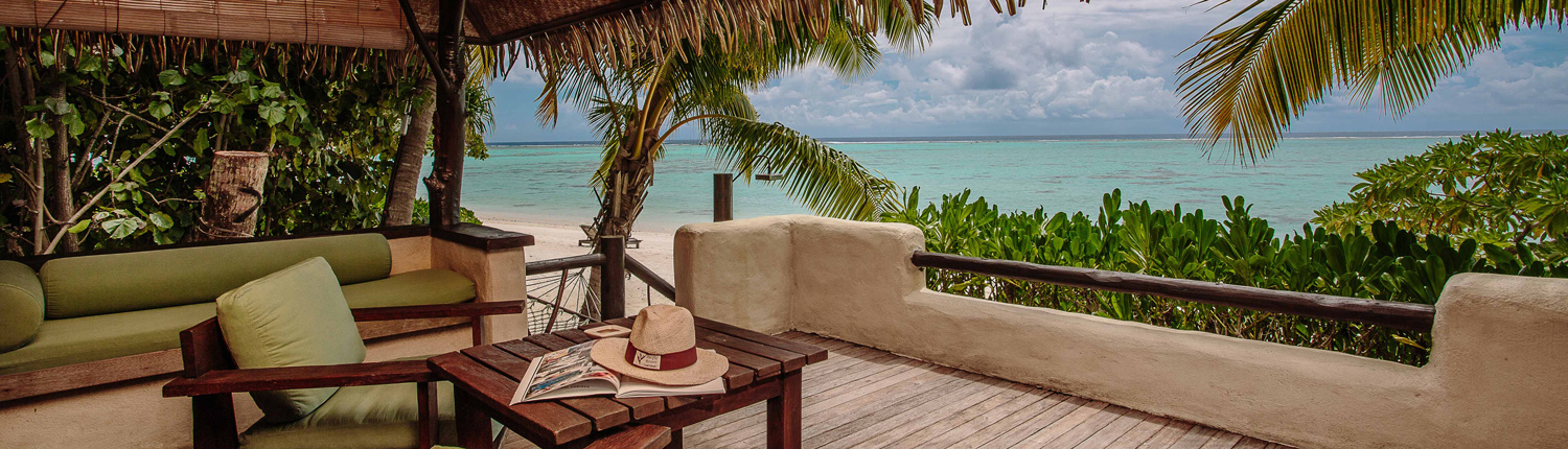 Pacific Resort Aitutaki, Cook Islands - Beachfront Deck