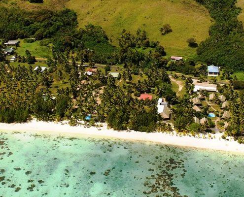 Tamanu Beach, Cook Islands - Aerial View