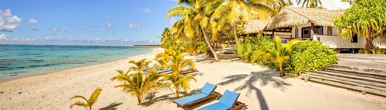 Tamanu Beach, Cook Islands - Beachfront