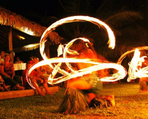 Tamanu Beach, Cook Islands - Fire Dancers