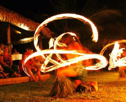 Tamanu Beach, Cook Islands - Fire Dancers