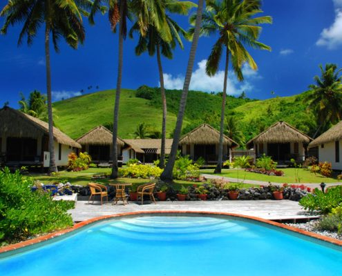 Tamanu Beach, Cook Islands - Pool & Rooms