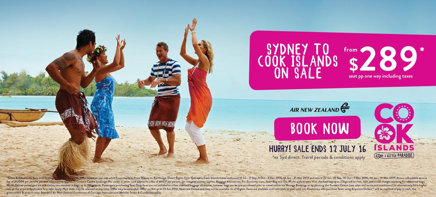 Cook Islands Flight Specials from Sydney